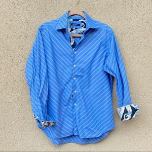 Robert graham button down shirt flip cuff size M